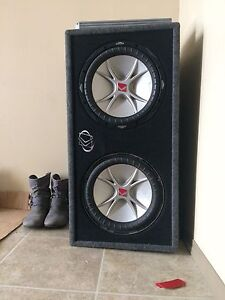 2 12 inch kickers with 3000w amp