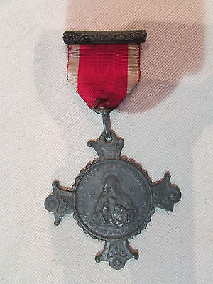 Antique Gross Medal Regulates Religious Wish National of / The Sacred Heart 19#