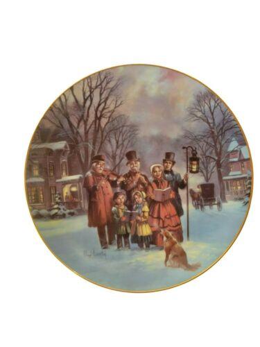 W. S. George The Carollers Collector Plate Lloyd Garrison 1991 Bradex NO Fine Ch