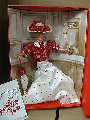 1996 Coca-Cola Soda Fountain Sweetheart Barbie doll- Signed!!