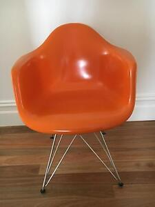 3 x Eames orange fibreglass chairs Moonee Ponds Moonee Valley Preview