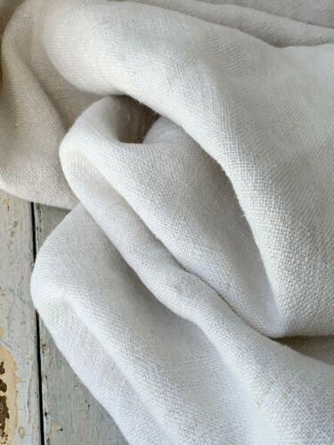SOFT 1800 Antique French Linen Sheet 59 X 87 inches  Floppy white shabby chic