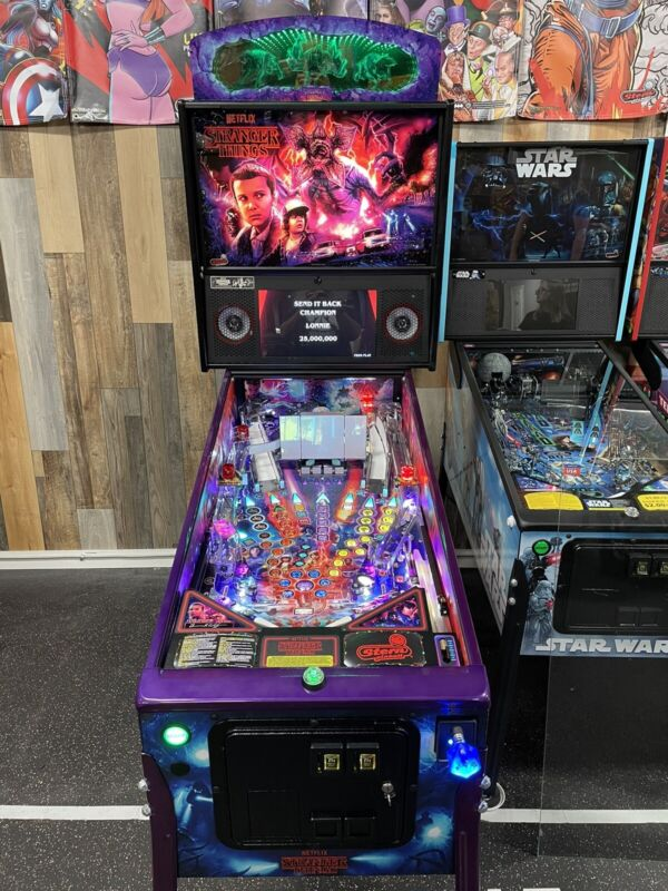 STERN STRANGER THINGS PINBALL MACHINE LIMITED EDITION LE TOPPER UV KIT 078/500
