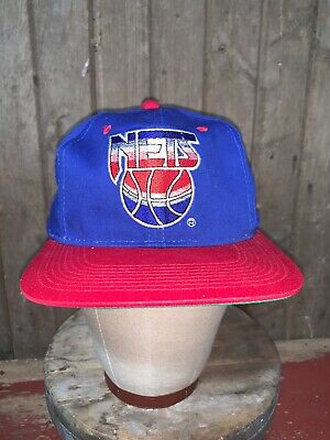 VINTAGE 90s New Jersey Nets old LOGO NBA Sports Specialties Hat Snapback RARE
