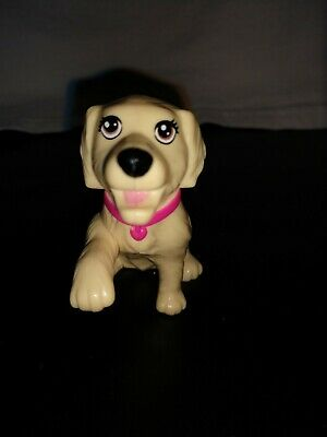 Barbie lab Puppy Dogs for Fisher Price or Barbie Doll House Begs Pink Collar
