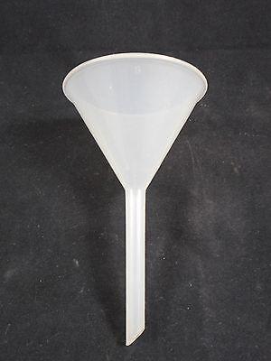 (Laboratory Polypropylene Plastic 65mm Diameter 11cm Ht Long Stem Filling Funnel)