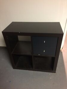 Moving sale - small shelving unit with 2 drawers