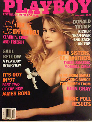 May 1997 Playboy Magazine  / DONALD TRUMP Profile  #2 / CLAUDIA SCHIFFER COVER
