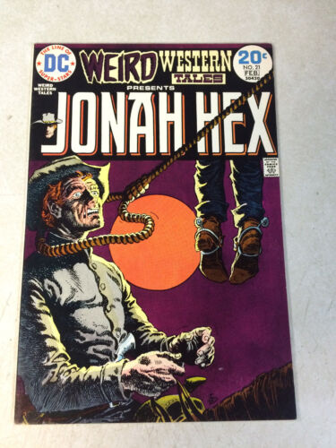 WEIRD WESTERN TALES #21 early JONAH HEX, 1974, hanging cover, NM- BEAUTY!!