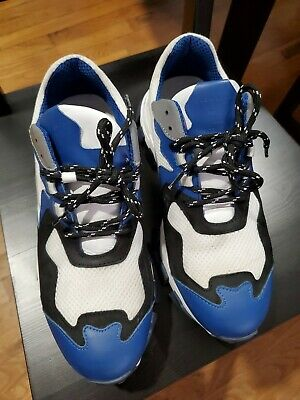 CINZIA ARAIA men Sneakers Fabric and Leather Sneakers White Blue