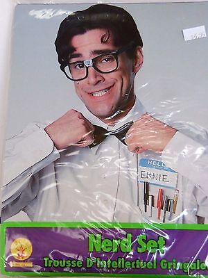 Halloween Treat Names (Nerd Kit Glasses Bow Tie Pocket Protector Name Trick Or Treat Halloween)