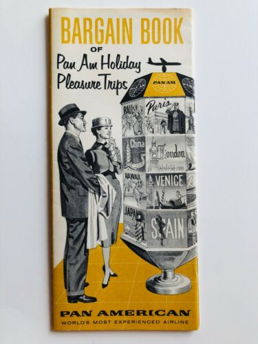 1958 Pan Am Airlines Holiday Tour Guide w Trips Around the World Travel Brochure