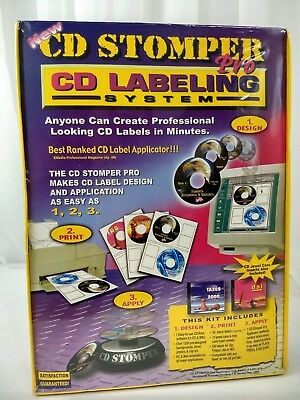 Cd Stomper Pro Cddvd Labeling System Create Personal Labels New Sealed