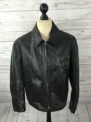 ARMANI Leather Jacket - Medium 42 - Brown - Great Condition