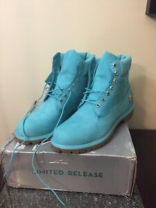Timberlands limited edition ice blue water size 13