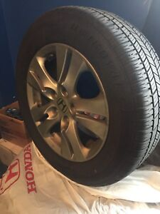 Tire and rims for Honda Accord