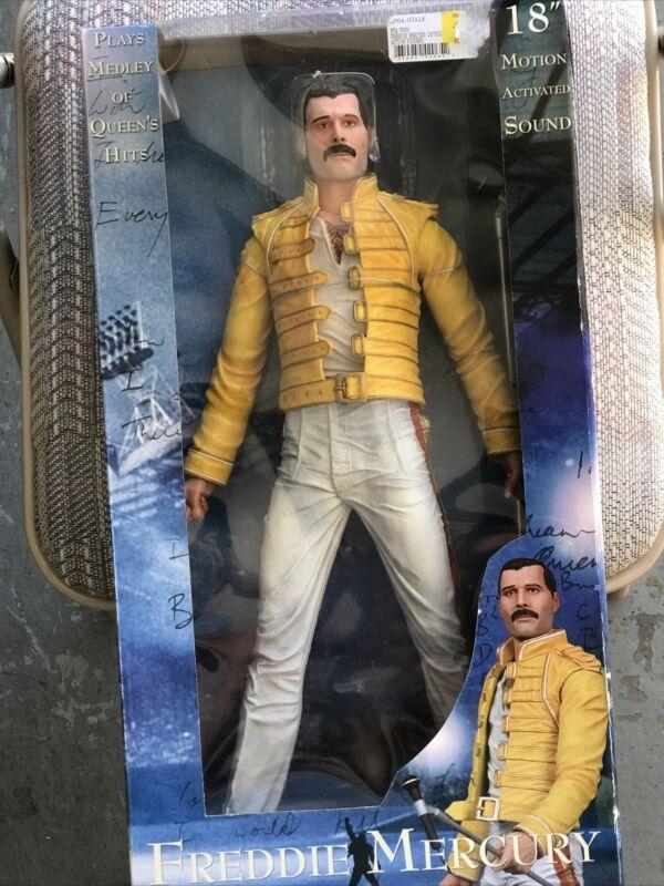 Freddie Mercury Queen Original 18 inch Figure W/ Sound Motion NECA Toy 2006 NIB