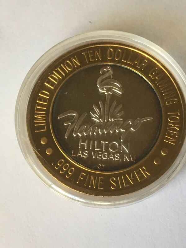 1946 .999 Fine Silver Flamingo Hilton Hotel $10 Limited Edition Gaming Token