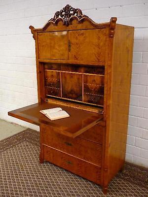 Sekretär Louis Philippe 1860 Norddeutsch Birke restauriert