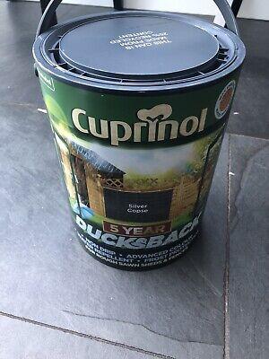 Cuprinol Ducksback Silver Copse Fence Paint 5 litre Tub