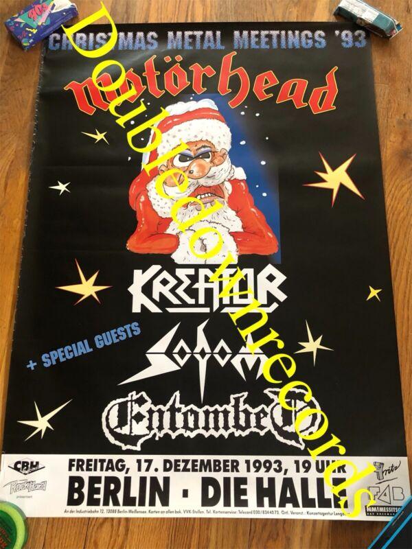 VTG Motörhead Concert Poster 1993 Kreator Sodom Entombed Metal Orig Berlin Lemmy