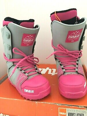 $220 Thirtytwo Lashed Womens 32 Size 7 Snowboard Boots NIB Grey Pink
