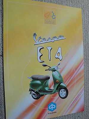 Piaggio Vespa ET4 Scooter Brochure Italian Excellent Condition