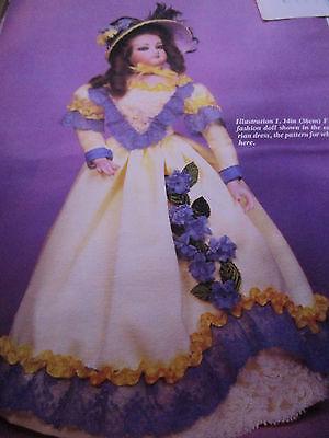 "14""  Gaultier Fashion Doll Victorian Dress Pattern 1840-52 /Merry Christy Lane"