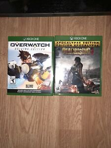 Overwatch and Dead rising 3 for the XBOX 1