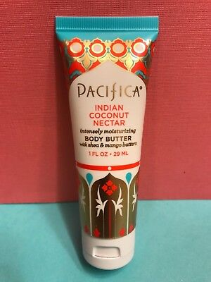 PACIFICA Indian Coconut Nectar Body Butter Natural Vegan Deluxe Travel 1oz SEAL! Pacifica Natural Body Butter