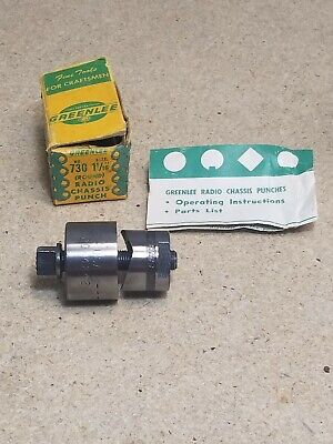 Greenlee No. 730 - 1 116 Round Radio Chassis Punch Set