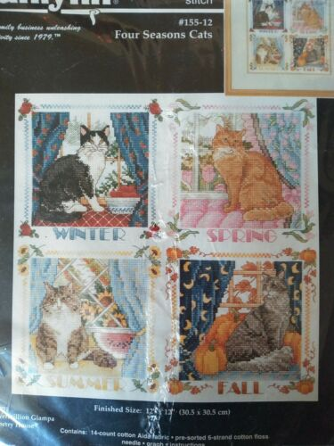 """Janlynn Counted Cross Stitch """"Four Seasons Cats"""""""