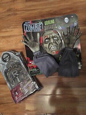 Zombie Ground Breaker Outdoor Halloween Decoration & 4pk - Groundbreaker Zombie