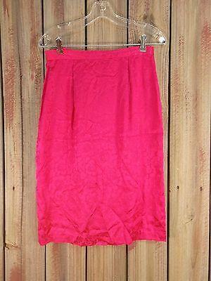 Spenser Jeremy Silk Skirt Hot Pink Pencil Below Knee Women's Size 6 NWT $119