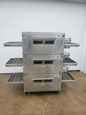 2015 Xlt Model 2440 Triple Stack Gas Conveyor Pizza Oven 24 Belt Width