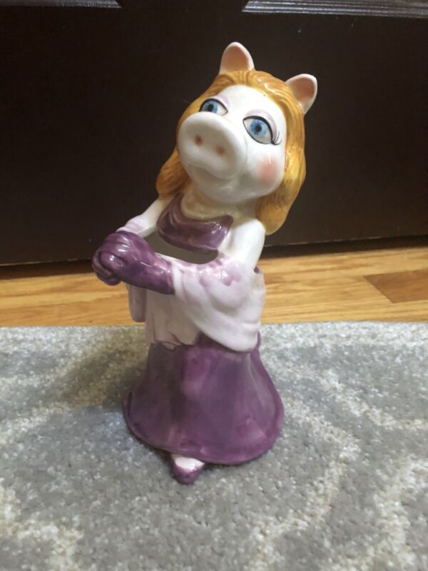 Vintage The Muppets Miss Piggy Ceramic Vase Sigma Tastesetter Jim Henson