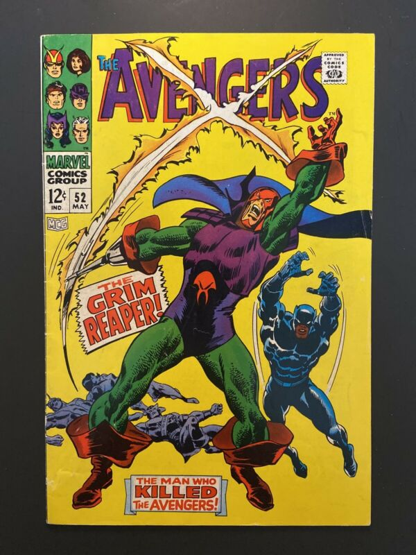 AVENGERS #52 FN- 5.5 Black Panther joins team + 1st app Grim Reaper