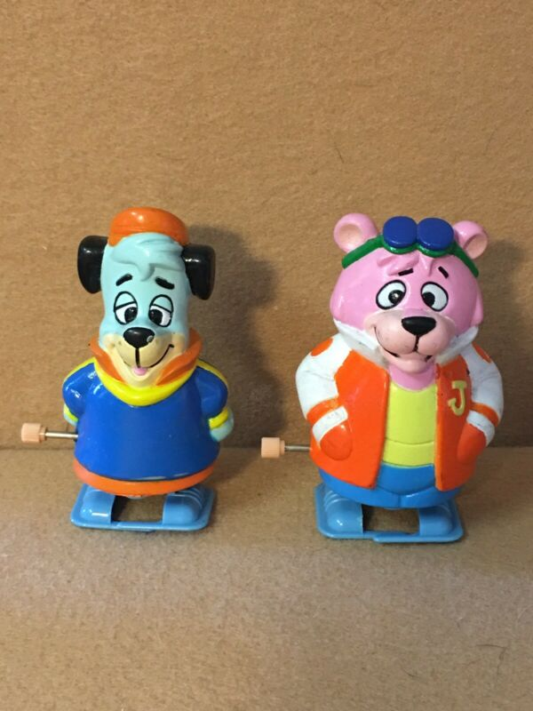 1992 Yogi's Huckleberry Hound And Snaggle Puss Wind-Up By Hanna Barbera