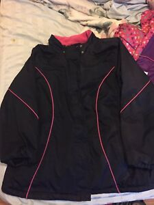2xl Hot pink and black woman's ski jacket