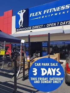 FLEX EQUIPMENT CAR PARK SALE ** 3 DAYS ONLY **