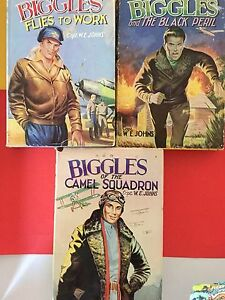 BOOKS VINTAGE  BIGGLES PAPERBACK X 5 HARD COVER X3 Bridgeman Downs Brisbane North East Preview