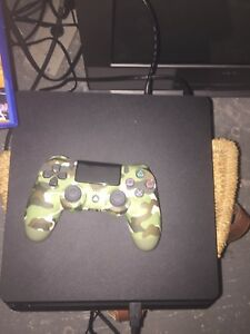PS4 console controller and games