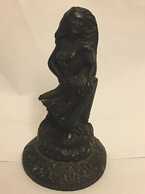 Vintage Coco Joe's Black Lava Rock Hula Girl Aloha Hawaii Art Figurine Tiki