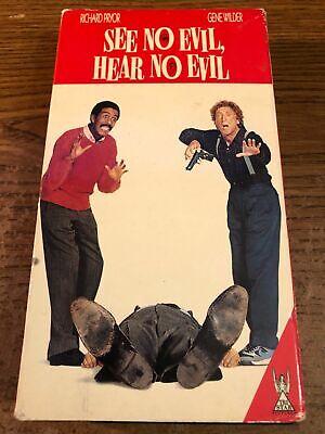 See No Evil Hear No Evil VHS VCR Tape Movie Richard Pryor,Gene Wilder R (Richard Pryor See No Evil Hear No Evil)