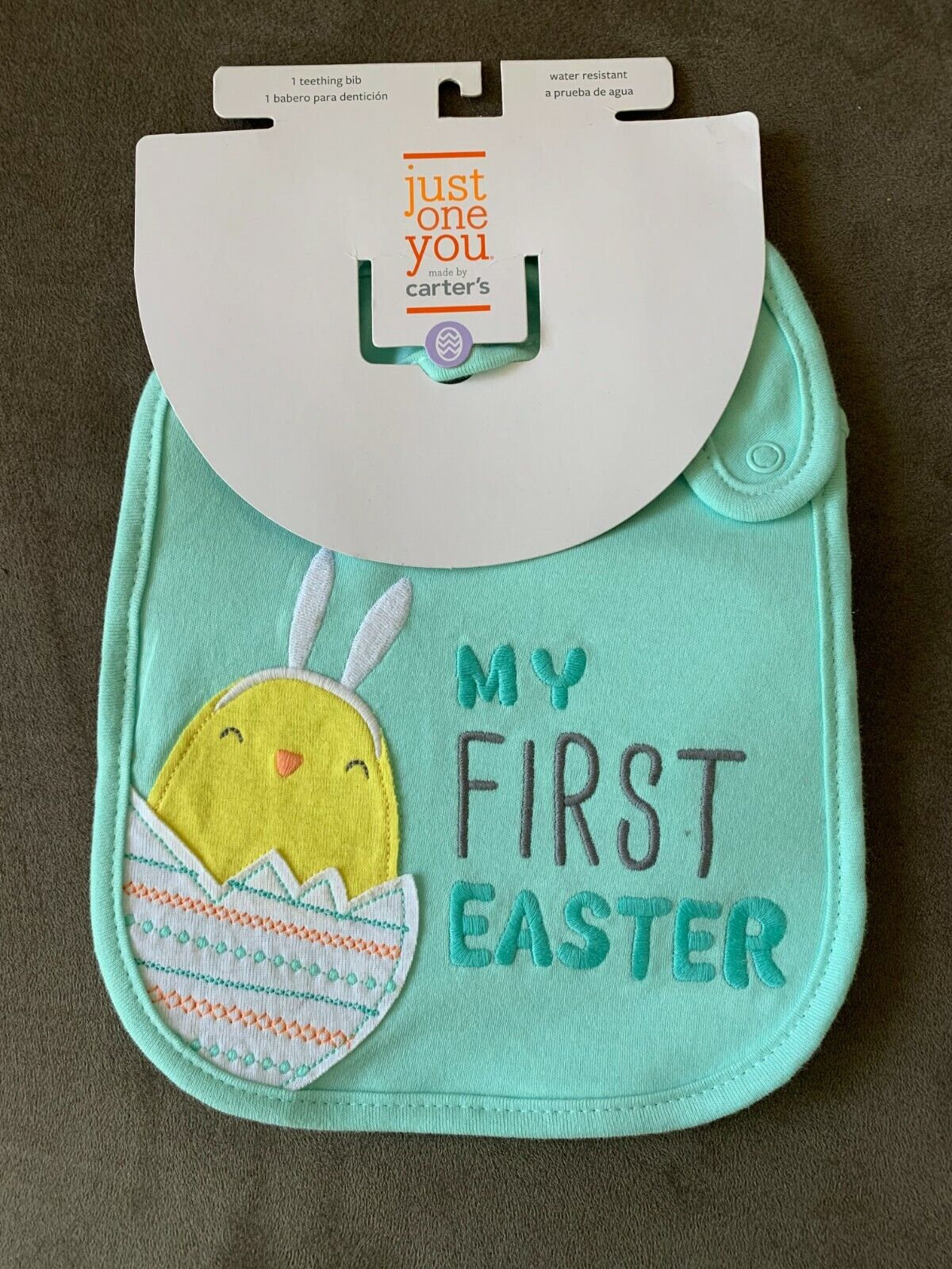 Baby Bib MY FIRST EASTER Carter's Just One You New