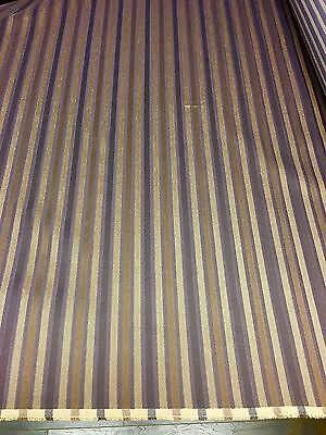 PRESTIGIOUS LUXURIOUS JACQUARD STRIPE CURTAIN UPHOLSTERY FABRIC 10.8 METRES