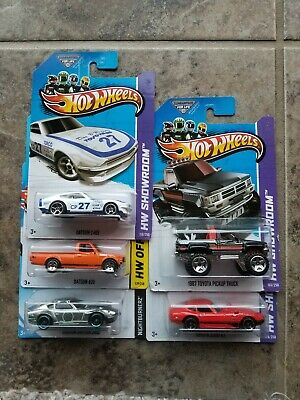 HOT WHEELS DATSUN 620 LOT 5 RARE HTF T HUNT JDM TRUCK TOYOTA ZAMAC GT