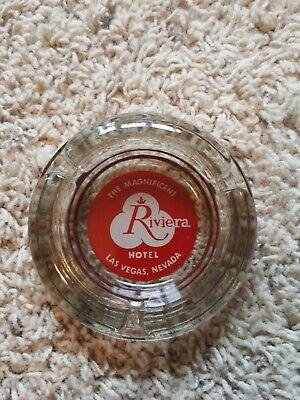Vintage Riviera Hotel & Casino Glass Advertising Ashtray Las Vegas, NV