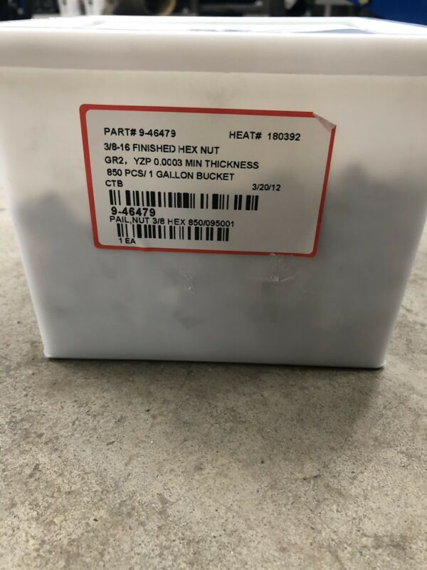 """(850) 3/8""""-16 Finished Hex Nuts"""
