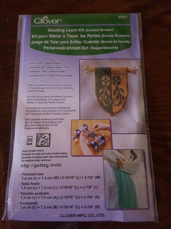 Clover 9921 Beading Loom Kit, Emblem Brooch